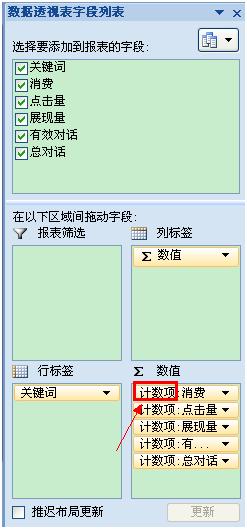 数据透视表的使用